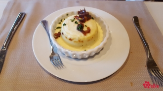 07.06.2017 | Dinner | Double Baked Blue Cheese Soufflé